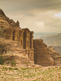 visitheworld:  Glimpse of the monastery in Petra, Jordan (by lordsheppy).
