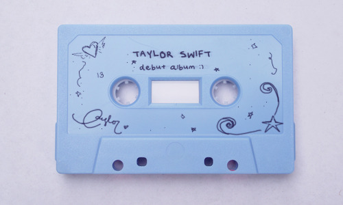 Taylor Swift albums as cassette tapes