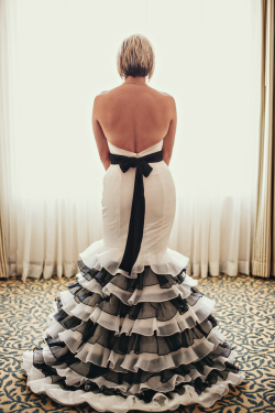 Black + White Ruffled Wedding Dress | Photography by Streetlight Republic