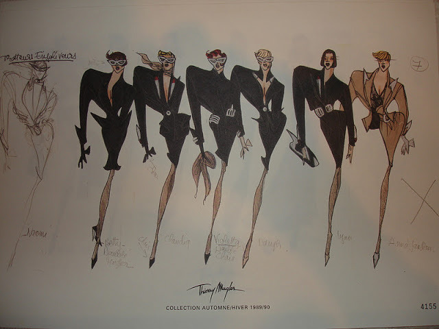 Sketches for Thierry Mugler A/W 1989/1990