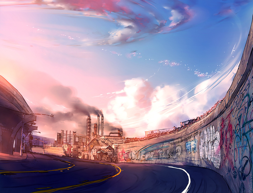 Fisheye Placebo: background concept art by `yuumei
