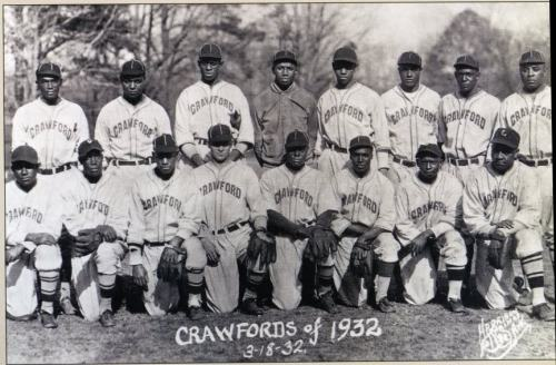 thepittsburghhistoryjournal:  Pittsburgh Crawfords, 1932 (via)  On This Day in Pittsburgh History: April 29, 1932 The first Negro League ballpark in the world is constructed by Gus Greenlee. The Pittsburgh Crawfords will call Greenlee Field home until they disband in 1938. Today's Josh Gibson Field carries on the field's legacy. [Wikipedia]