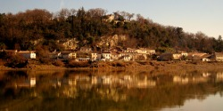 A village on the River Garonne, France. Photo by Amber Maitrejean