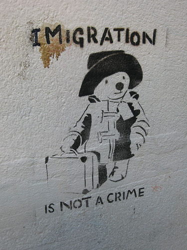 aww, paddington bear spelled immigration wrong:(