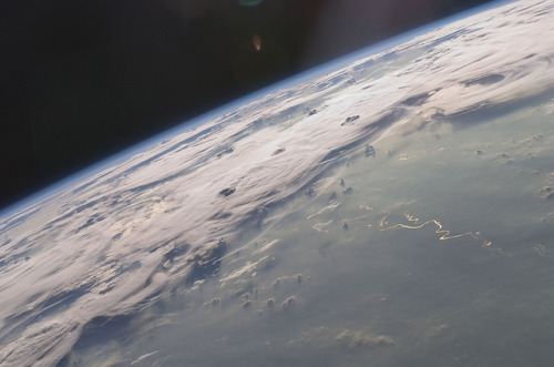 Thunderstorms on the Brazilian horizon, via NASA Goddard