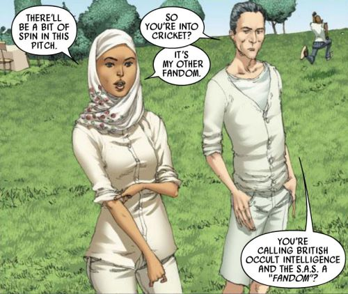 paulcornell:  Faiza and Al from the Captain Britain and MI-13 Annual. Art by Adrian Alphona.