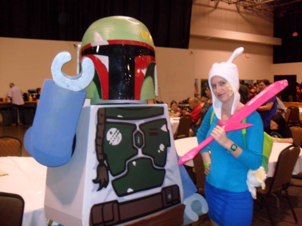 A couple of the pictures that my Finn took today.  Princess Bubblegum & BMO, Lego Boba Fett, Ash & Misty, and Iron Man!