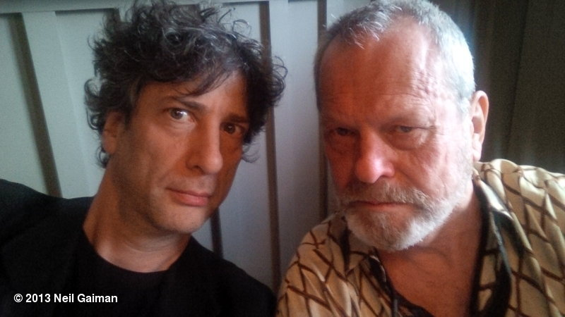 awesomepeoplehangingouttogether:  Neil Gaiman and Terry Gilliam