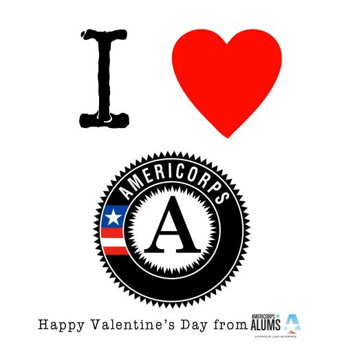 Awesome Valentine from our friends AmeriCorps Alums - we love AmeriCorps, too!
