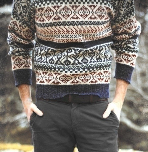 vikingposts:  Awesome scandinavia-inspired sweat shirt. Want.  Anyone who knows what brand it's from?