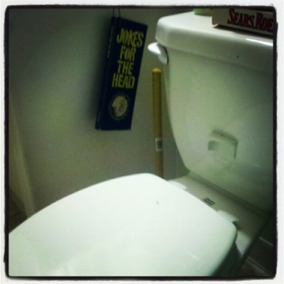 Potty humor. Jay and Natalie's, Sacramento #toilet, #jokebook, #roadtrip, #ca