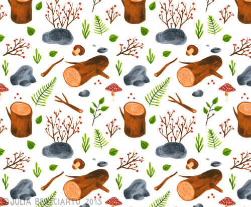 Woods, a new pattern (via Juliabe)