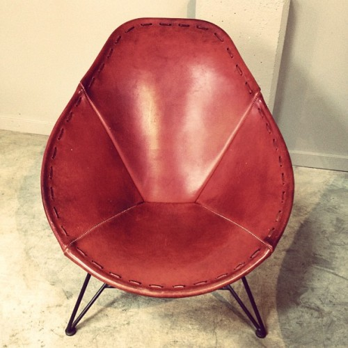Saddle Leather Chair at Heath Ceramics.