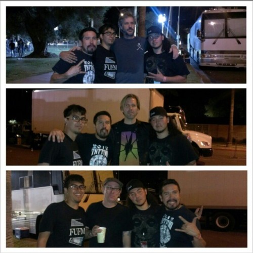 We got to meet jay, brooks, and brian of bad religion!!!! #thatdamnshow #kukq #nomadaaz #beansrecords #badreligion #stoked #soakingitallup