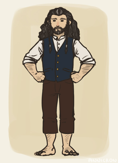 annicron:  an AU in which Thorin doesn't die and goes to the Shire to live out his days peacefully with Bilbo