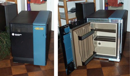 The Silicon Graphics Refrigerator Project by thijsatteiltje (or: How to Turn a $175.000 High-End Challenge DM Server into a Fridge) Too much free time will make people do the weirdest things. I've always had a soft spot for obsolete computers, especially when they had once cost a small fortune and were the absolute top-of-the-line in their hey-day but are now hopelessly out-dated. It seems unfair that after only a short time of hard work the reward for their loyalty is to bring them to the junkyard.