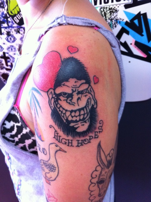 GORILLA BISCUITS!!! By Brett Eberhard, of Ocean Ink Tattoos in Miranda, NSW, Australia.