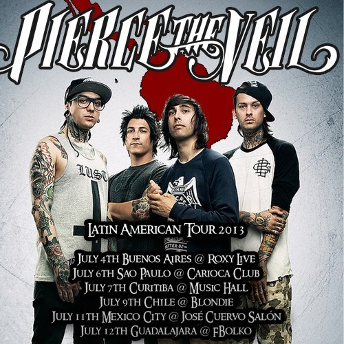 Pierce The Veil has announced Latin American tour dates.