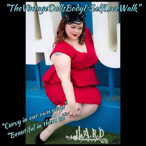 """TheVintageDollsBody&SelfLoveWalk"" This is @Curvykatpsm and her inspirational story will share how even though others passed her by, made her feel less then she is, and unkindness made her second guess her own beauty, that its truly how you see and love yourself that will carry you to your dreams and make you the best you that you can be! #thevintagedoll #thevintagedollsbodyandselflovewalk #strong #support #loveyourself #realwomen #realbeauty #respectyourself #brave #beautiful #pinup #curvyinourownways"