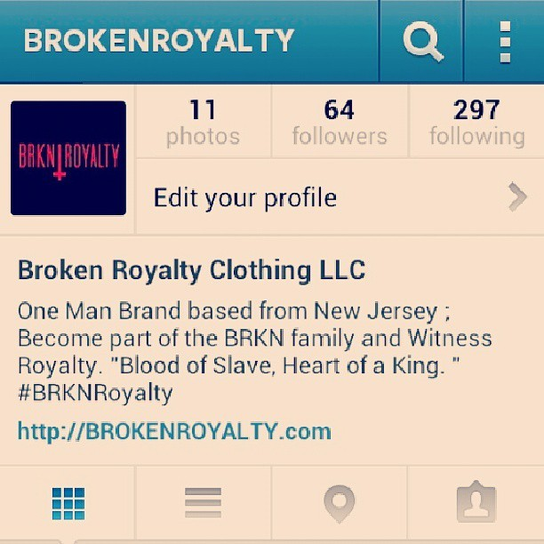 2 more weeks ! Lets spread the word and get these follows up . Follow @brokenroyalty to stay updated on the launch of my clothing line and become a part of Royalty ! #BRKNROYALTY #SUMMER2013