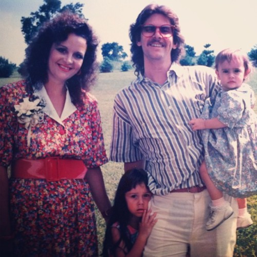 The #80's #version of my #family… #love #vintage #memory #curls #happy