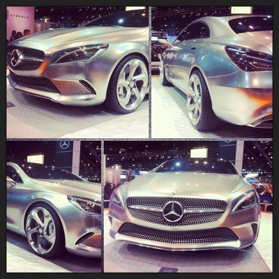 Mercedes concept car! ❤at first 😍. #mercedes #concept #sexy #fastcars #supercars #chicago #chitown  #autoshow #grill #rims #carbonfiber #wealth #richandfamous #MMG #riches #royalty #dynamite #silver #germanengineering #germany #perfection #picstitch #picoftheday