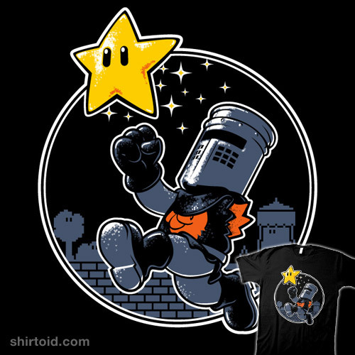 This great Super Mario / Monty Python T-shirt design, 'I'm Invincible' by Nathan Davis, is now available to buy at the artist's Redbubble store, www.redbubble.com/people/obvian!