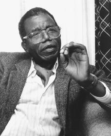 "REST IN PEACE CHINUA ACHEBE. I remember having to petition my teacher to read ""Things Fall Apart"" in middle school for an independent project in my 'Honors Brit Lit' class - where lauding the origins of eurocentric language and anglo cultural hegemony was more important than reading about the long-lasting implications of British colonial rule in Nigeria. ""Unfortunately, oppression does not automatically produce only meaningful struggle…To answer oppression with appropriate resistance requires knowledge of two kinds: in the first place, self-knowledge by the victim, which means awareness that oppression exists, an awareness that the victim has fallen from a great height of glory or promise into the present depths; secondly, the victim must know who the enemy is. He must know his oppressor's real name, not an alias, a pseudonym, or a nom de plume!"" from ""The Education of a British-Protected Child"" pg. 57"