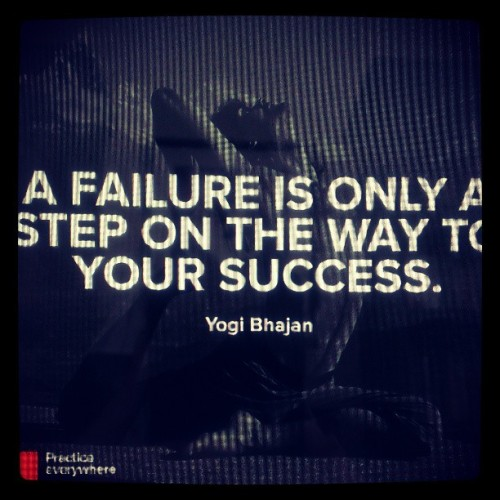Embrace failure. Move forward. #fitfluential #yoga