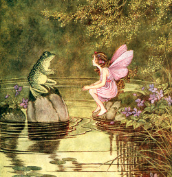 saveflowers1:  Art by Ida Rentoul Outhwaite (1922) from THE LITTLE GREEN BOOK TO FAIRYLAND.