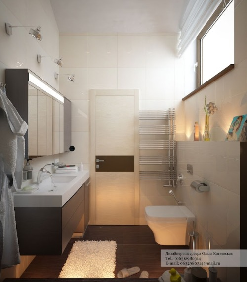 homedesigning:  Contemporary Bathroom Layout