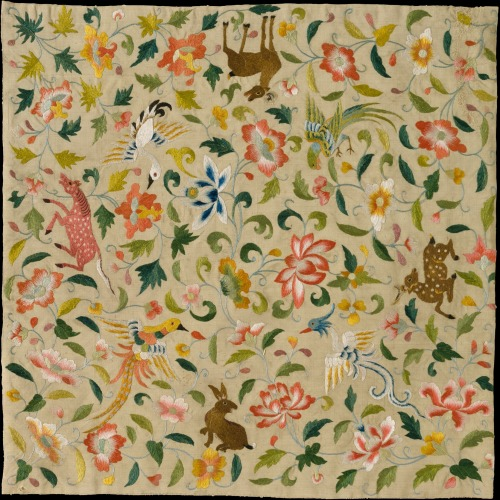 wheredidmyfuturego:  Textile with Animals, Birds, and Flowers (late 12th–14th century)