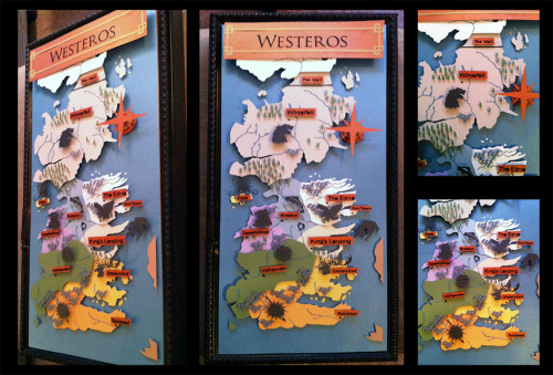 Shadowbox: Game of Thrones: Westeros Map by *The-Paper-Pony