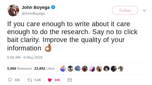 this is genuinely v helpful to me reminders writing journalism john boyega