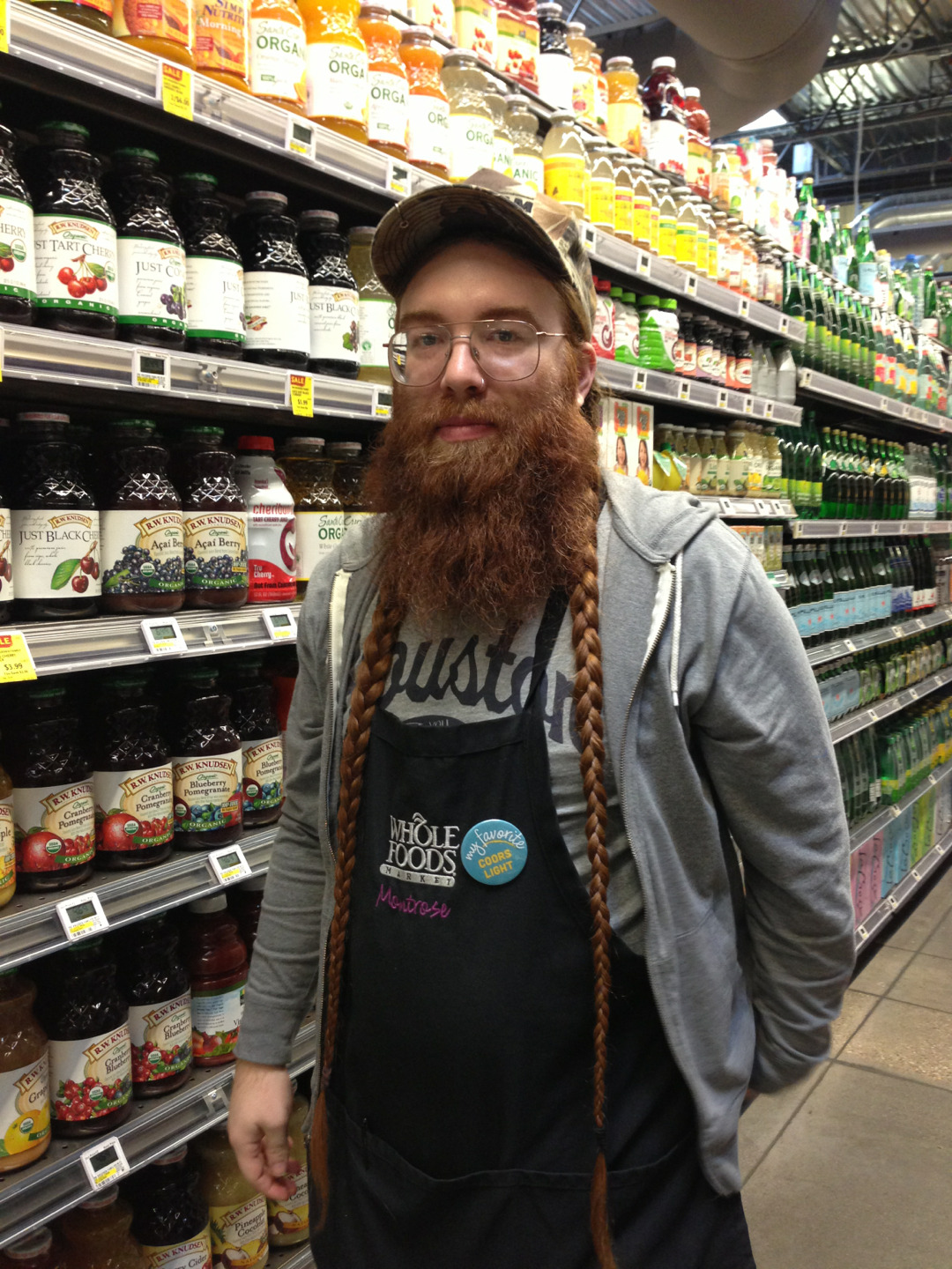 thedailybeard:  I met Michael today at whole foods. He was a little reluctant to let me take a photo …and I may of called myself a creep.