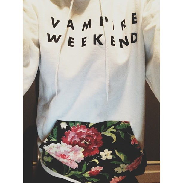 bourgeoisdecadences:   Vampire Weekend MVOTC hoodie (photo via @tekwani)  DAMN, they didn't have this last week.