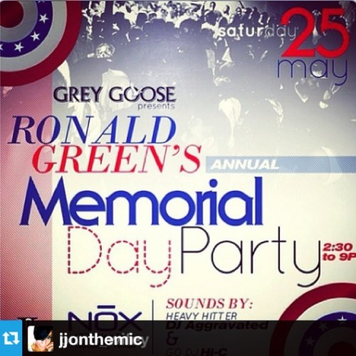 Join Houston's Ronald Green Memorial Day Kickoff Day Party brought to you by Grey Groose#Repost from @jjonthemic with @repostapp