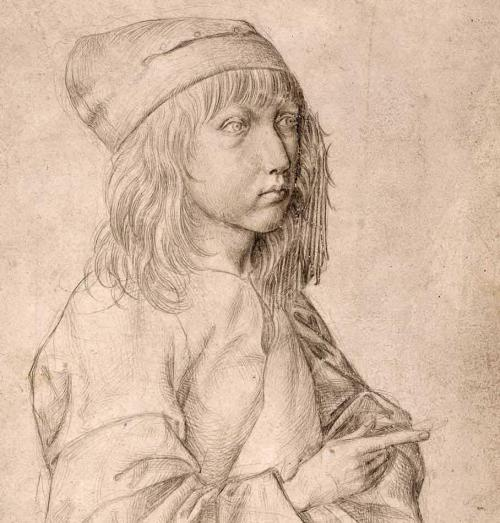 Albrecht Dürer self-portrait, 1484, drawn when the artist was thirteen years old.