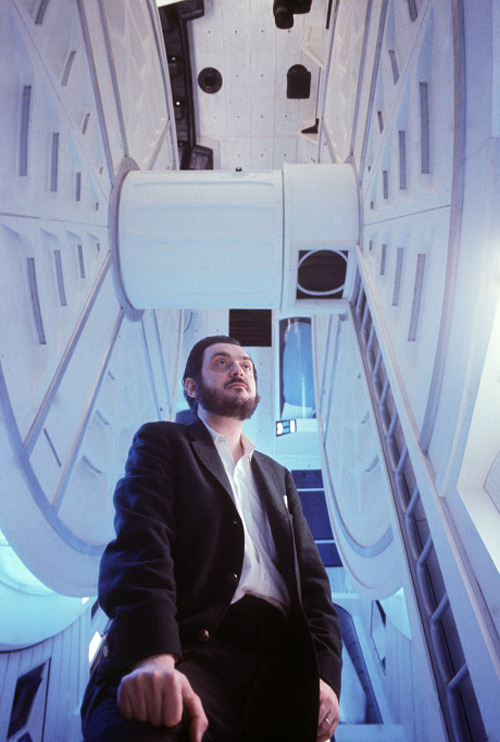 fuckyeahdirectors:  Stanley Kubrick on the set of 2001: A Space Odyssey (1968)