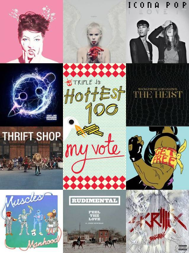 Check out what I voted for in triple j's Hottest 100 2012.