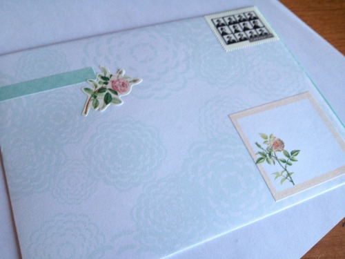 sending out an other letter this gorgeous morning!