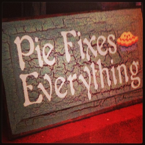 From a magnet on my friend's fridge. #PieFixesEverything (at NoHo Arts District)