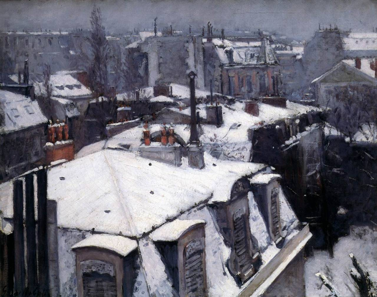le-desir-de-lautre:  Gustave Caillebotte (French, 1848-1894), Snow-Covered Roofs in Paris, 1878, oil on canvas, 64 x 82 cm, Musée d'Orsay, Paris.