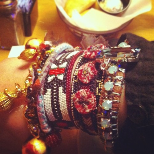 Could not wait till I go home so the marant cuff joined the party 😉😆 #isabelmarant #cuff #jewelry #missoni #handmade #Swarovski #accessories #diy #ootd #wimw