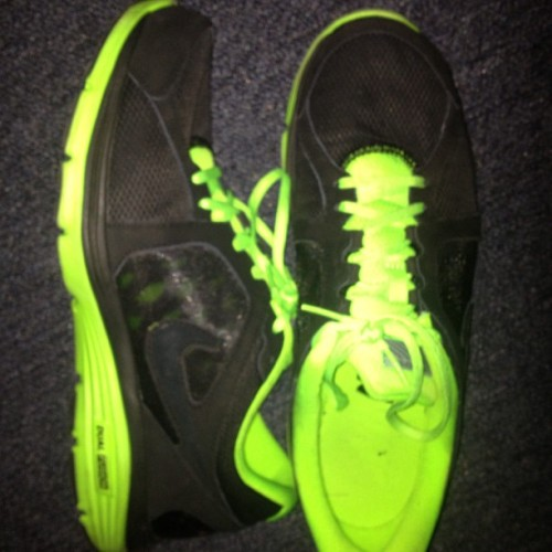 #photochallenge #photooftheday #may #shoes #his #new #nike #neongreen