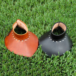 SCA style leather gorgets from http://medievalarmour.com/p-378-sca-style-leather-gorget.aspx