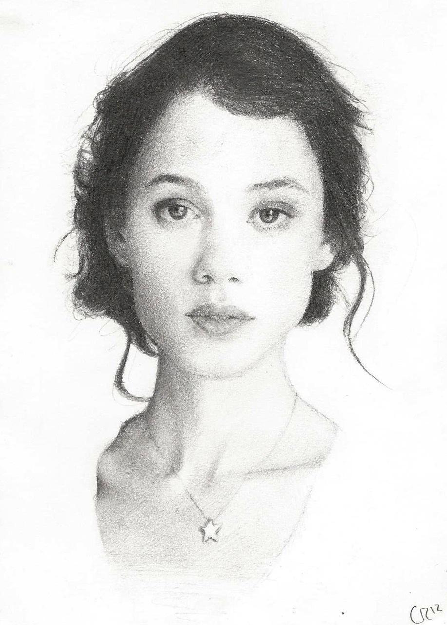 doodlewatsit:  My Astrid Berges-Frisbey pencil drawing (2012)