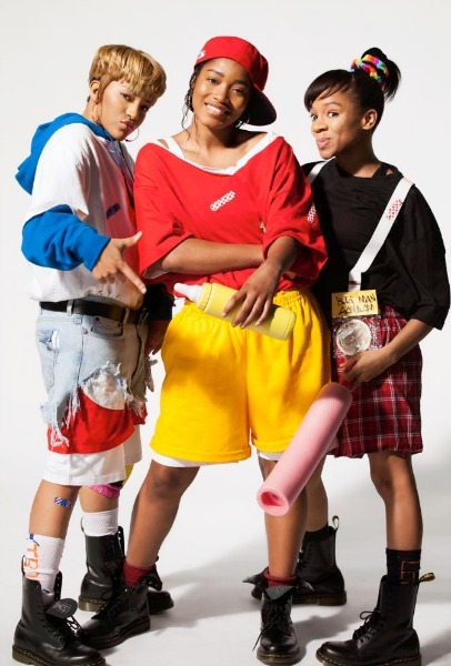 Drew Sidora, KeKe Palmer, and Lil Mama as TLC. The 3 will portray the bad-girl girl group for a VH1 original film.