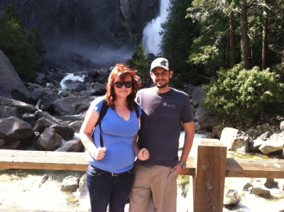 My beautiful girlfriend and I at Lower Yosemite Falls.