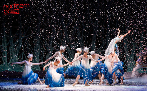 Ayana Kanda as Clara in Northern Ballet's The Nutcracker, Snowflakes. Photo Bill Cooper.